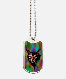 Cat Portrait Watercolor Style Dog Tags