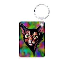 Cat Portrait Watercolor Style Keychains