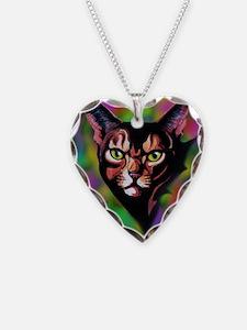 Cat Portrait Watercolor Style Necklace