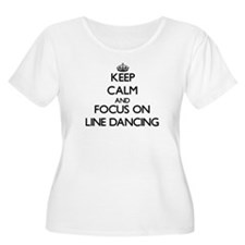 Keep Calm by focusing on Line Da Plus Size T-Shirt