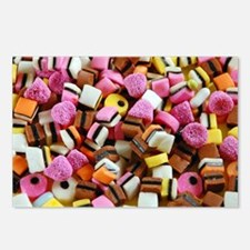 Colorful licorice candy Postcards (Package of 8)