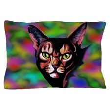 Cat Portrait Watercolor Style Pillow Case