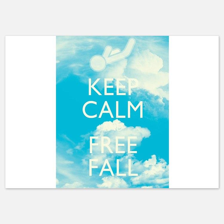 Keep Calm and Free Fall Invitations