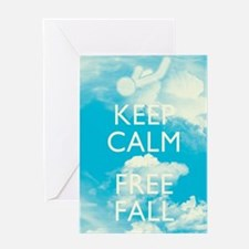 Keep Calm and Free Fall Greeting Cards