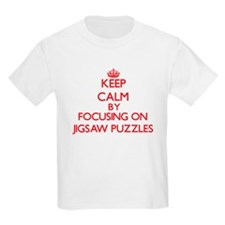 Keep Calm by focusing on Jigsaw Puzzles T-Shirt