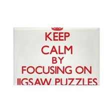Keep Calm by focusing on Jigsaw Puzzles Magnets