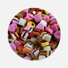 Colorful licorice candy Ornament (Round)