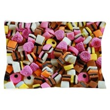 Colorful licorice candy Pillow Case