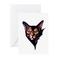 Cat Portrait Watercolor Style Greeting Cards