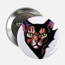 """Cat Portrait Watercolor Style 2.25"""" Button (100 pa"""