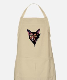 Cat Portrait Watercolor Style Apron