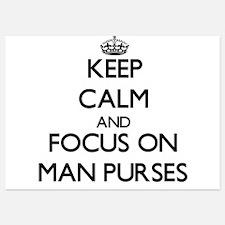 Keep Calm by focusing on Man Purses Invitations