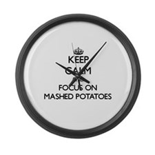 Keep Calm by focusing on Mashed P Large Wall Clock