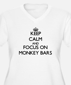 Keep Calm by focusing on Monkey Plus Size T-Shirt