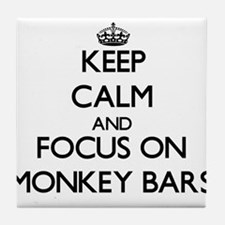 Keep Calm by focusing on Monkey Bars Tile Coaster