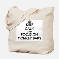 Keep Calm by focusing on Monkey Bars Tote Bag