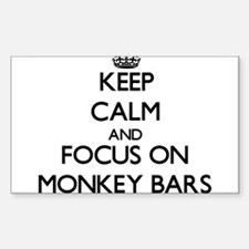Keep Calm by focusing on Monkey Bars Decal