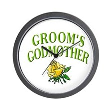 Groom's Godmother(rose) Wall Clock