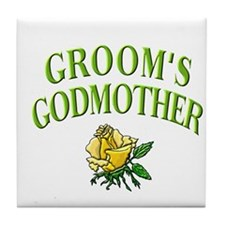 Groom's Godmother(rose) Tile Coaster