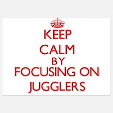 Keep Calm by focusing on Jugglers Invitations