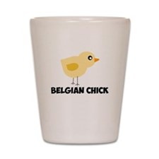Belgian Chick Shot Glass