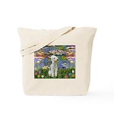 Monet's Lilies & Bedlington Tote Bag