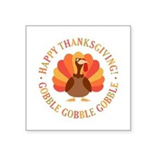 Happy Thanksgiving Turkey Sticker