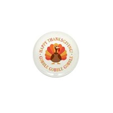 Happy Thanksgiving Turkey Mini Button (10 pack)