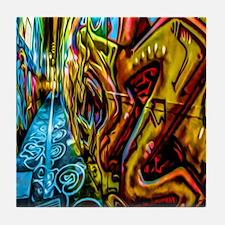 Graffiti Alley Tile Coaster