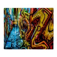 Graffiti Alley Throw Blanket