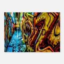 Graffiti Alley 5'x7'Area Rug