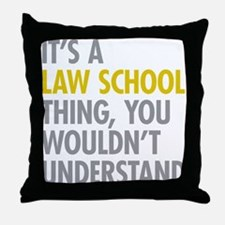 Law School Thing Throw Pillow