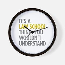 Law School Thing Wall Clock