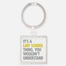 Law School Thing Square Keychain