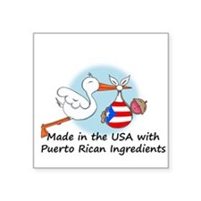 Stork Baby Puerto Rico USA Sticker