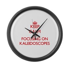 Keep Calm by focusing on Kaleidos Large Wall Clock