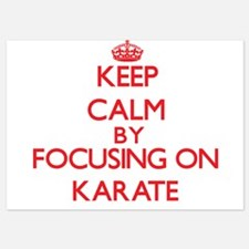 Keep Calm by focusing on Karate Invitations