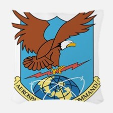 Aerospace Defense Command.png Woven Throw Pillow