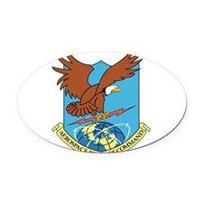 Aerospace Defense Command.png Oval Car Magnet