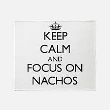 Keep Calm by focusing on Nachos Throw Blanket