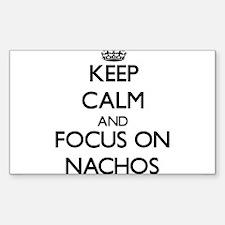Keep Calm by focusing on Nachos Decal