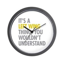 Left Wing Thing Wall Clock