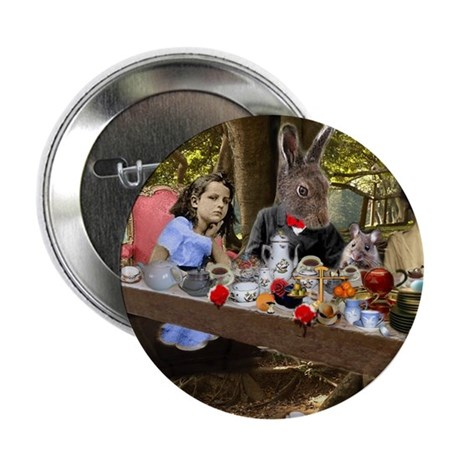 """Mad Tea Party (detail) 2.25"""" Button (10 pack)"""