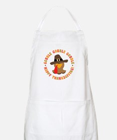 Funny Thanksgiving Pilgrim Turkey Apron