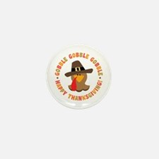 Funny Thanksgiving Pilgrim T Mini Button (10 pack)
