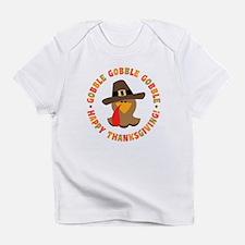 Funny Thanksgiving Pilgrim Turkey Infant T-Shirt