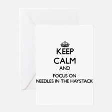 Keep Calm by focusing on Needles In Greeting Cards