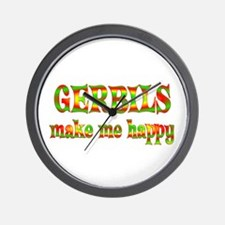 Gerbils Make Me Happy Wall Clock