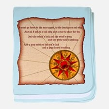 Harvest Moons Compass Rose baby blanket