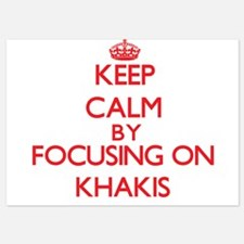 Keep Calm by focusing on Khakis Invitations